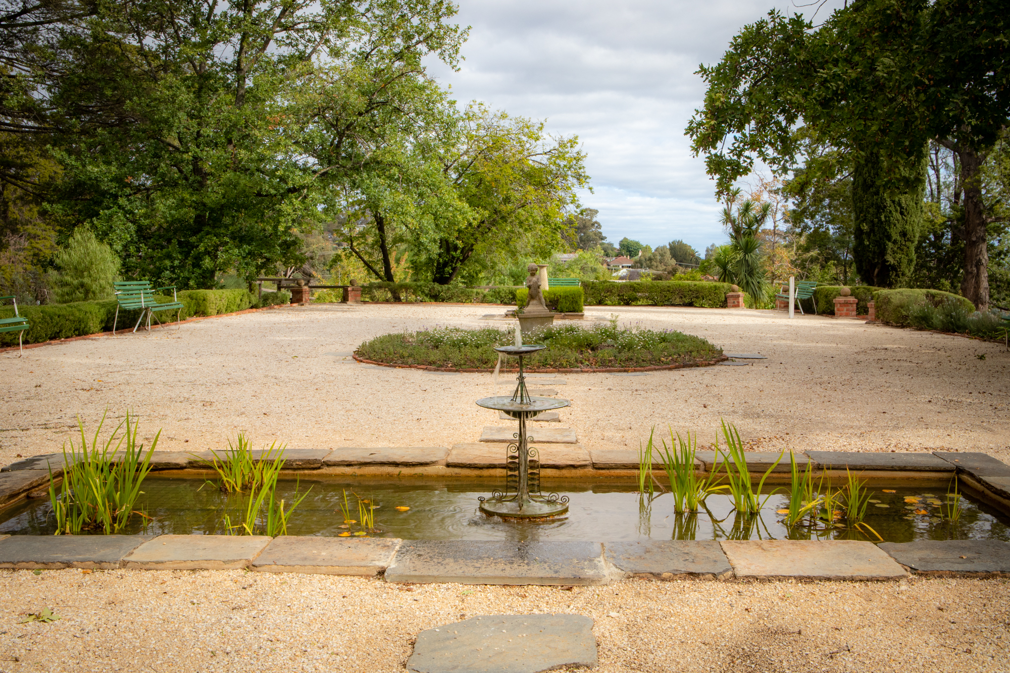 The Fountain in the formal garden