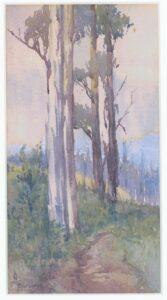 Gum Trees (c1910) Watercolour by Elsie (Hake) Barlow