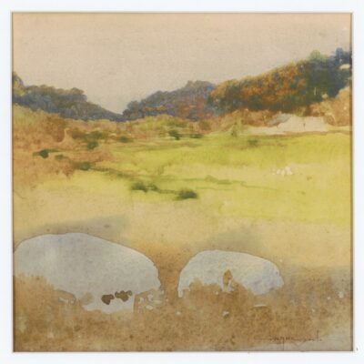 Untitled Landscape (c1910) Watercolour by Blamire Young