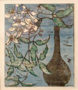 Still Life Linocut (c1930) by Alice Newell