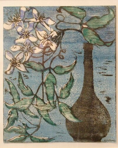 Still Life Linocut (c1930) by Alice Newell