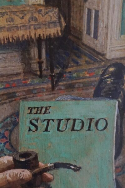 The Artist Smoking and Reading 'The Studio' (c1910)